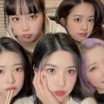 IZ*ONE(左上から時計回りに)チェウォン、ユジン、本田仁美、ウンビ、ミンジュ