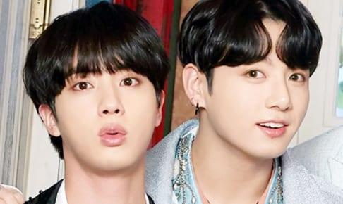 (左)BTS ジン(右)ジョングク