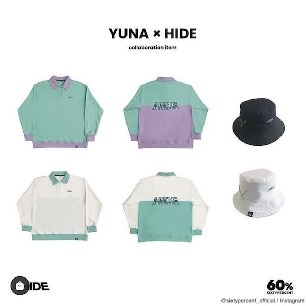 YUNA×HIDE コラボアイテムラインナップ