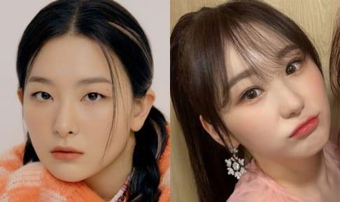 Red Velvet スルギ(左)、IZ*ONE チェヨン(右)