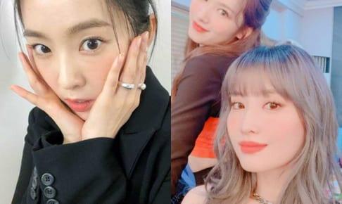 Red Velvet アイリーン、TWICE サナ&モモ(右)
