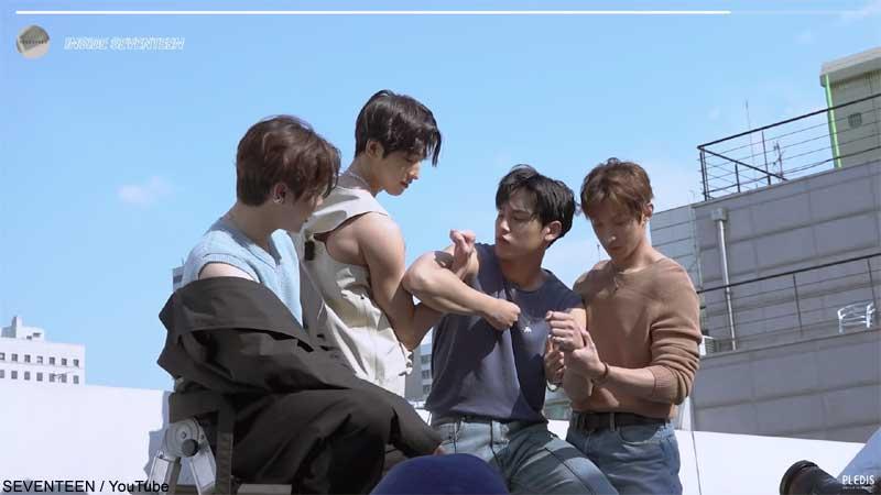 (左から)SEVENTEEN スングァン、ウォヌ、ミンギュ、ドギョム