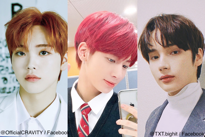 (左から)CRAVITY ヒョンジュン、TXT テヒョン、ヒュニンカイ