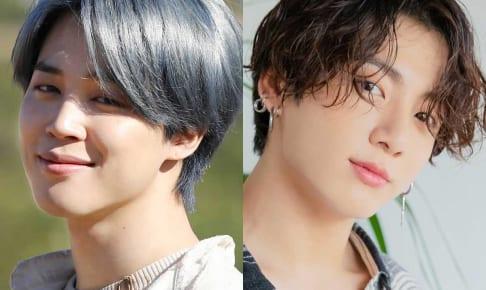 BTS ジミン(左)、ジョングク(右)
