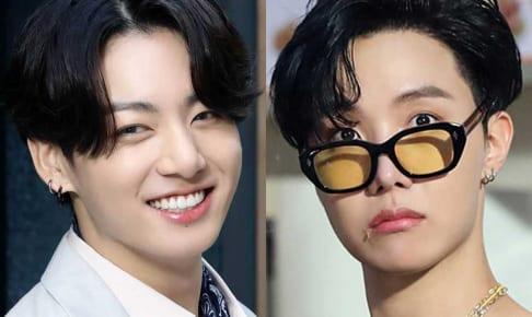 BTS ジョングク(左)、J-HOPE(右)