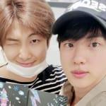 (左)BTS RM(右)ジン