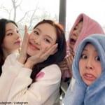左から TWICE ダヒョン、ナヨン、サナ、チェヨン