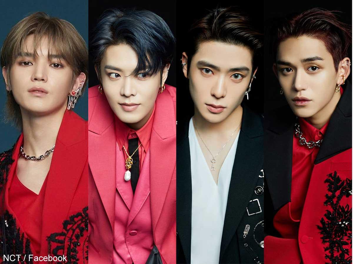 NCT テヨン、ユウタ、ジェヒョン、ルーカス(右)