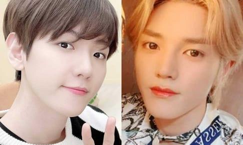 EXO ベクヒョン、NCT テヨン(右)