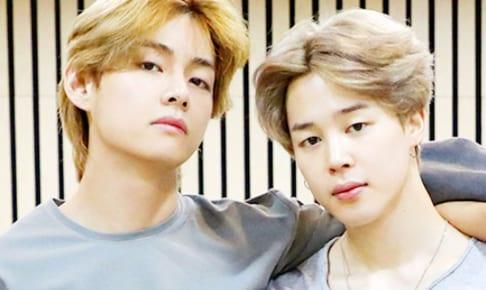 (左)BTS V(右)ジミン