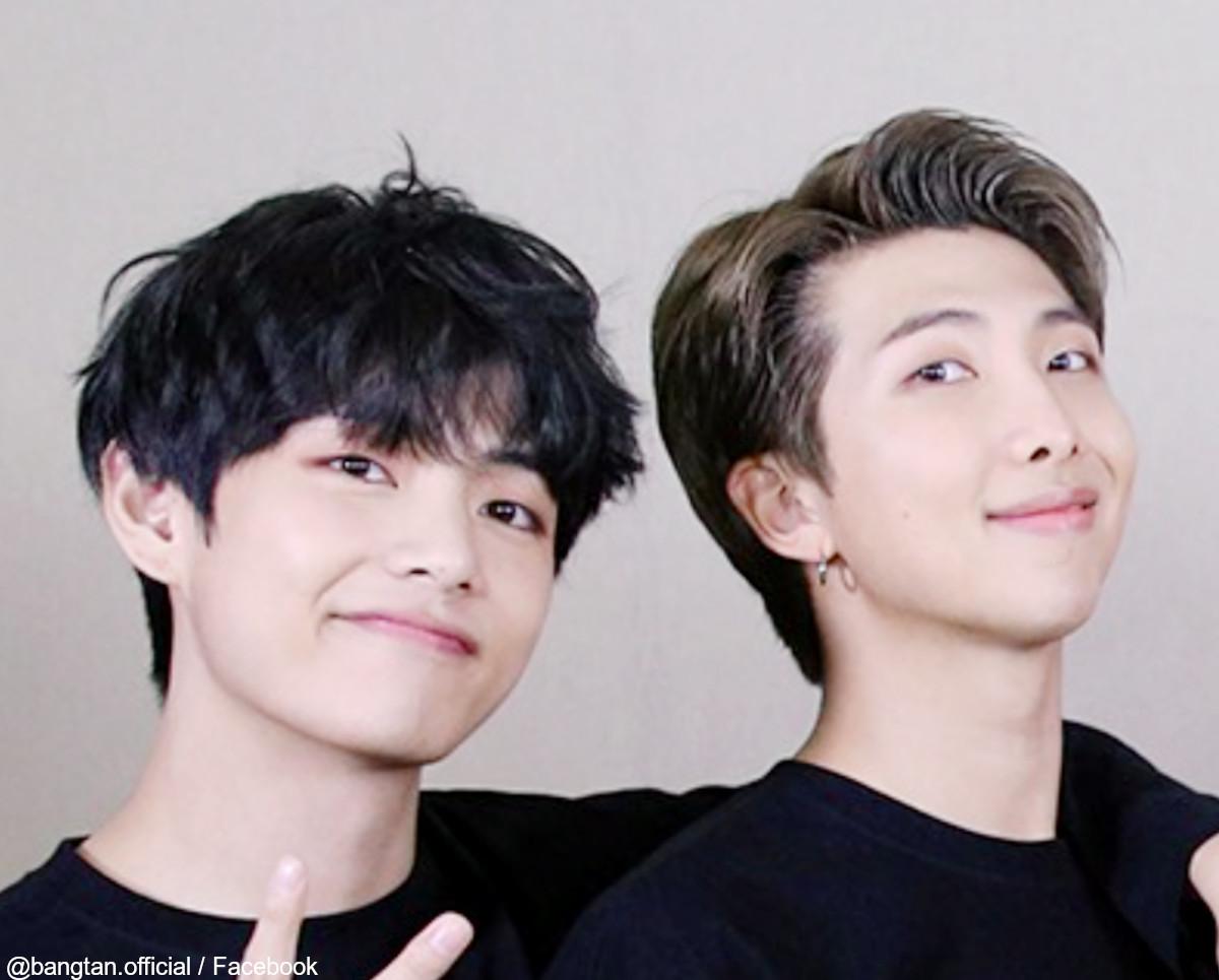 (左)BTS V(右)RM