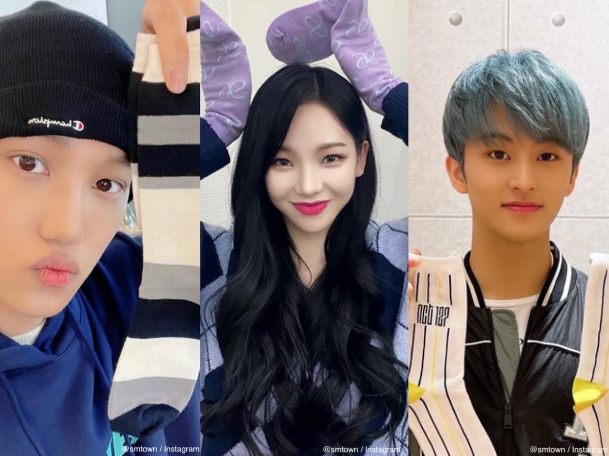 (左から)EXO カイ、aespa カリナ、NCT マーク