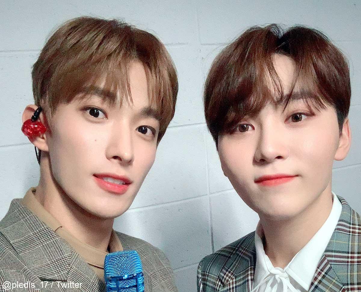 SEVENTEEN ドギョム(左)スングァン(右)