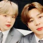 (左)BTS シュガ(右)ジミン