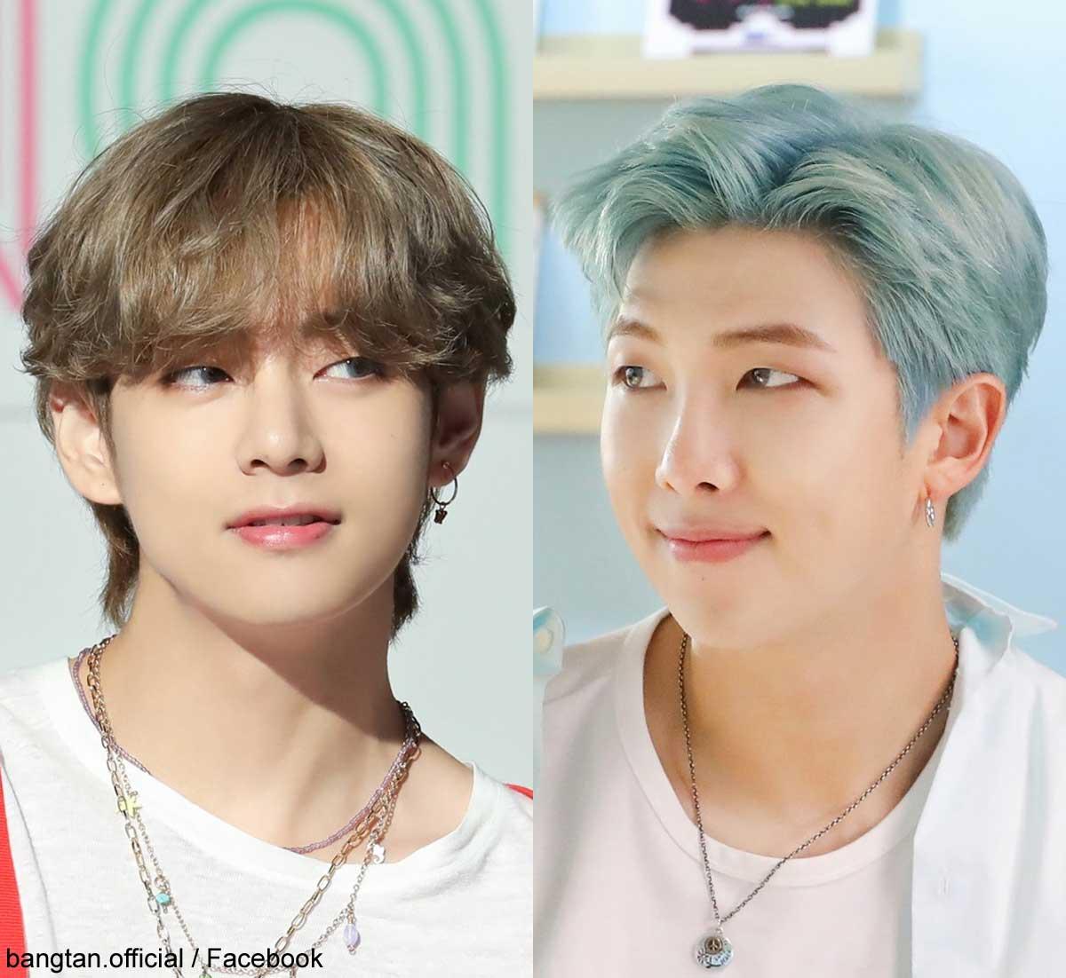 BTS V(左)RM(右)