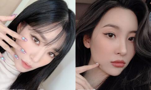 少女時代 ティファニー(左)、Wonder Girls出身 ソンミ(右)
