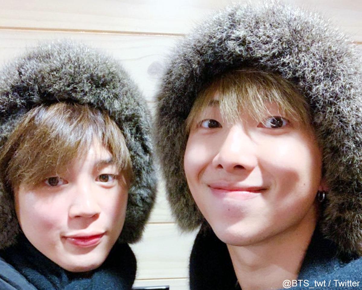 (左)BTS ジミン(右)RM