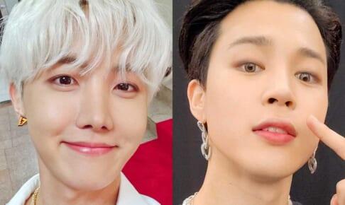 (左)BTS J-HOPE(右)ジミン