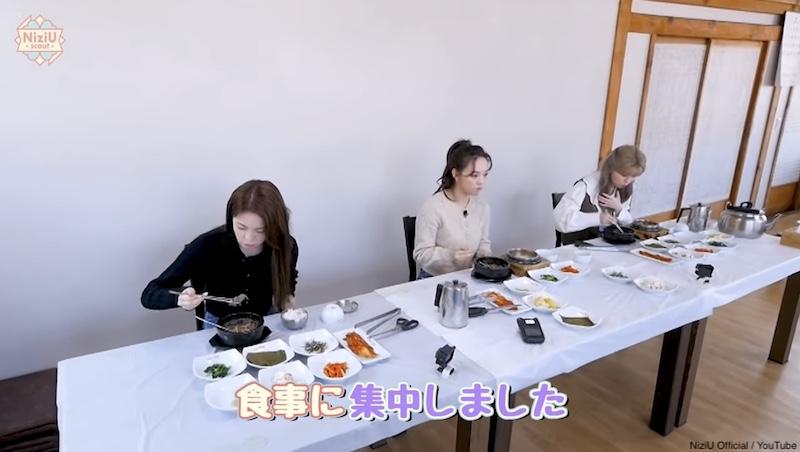 食事に集中するメンバーたち