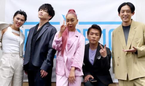 (左から)仲宗根梨乃、KENZO、青山テルマ、菅井秀憲、KEN THE 390