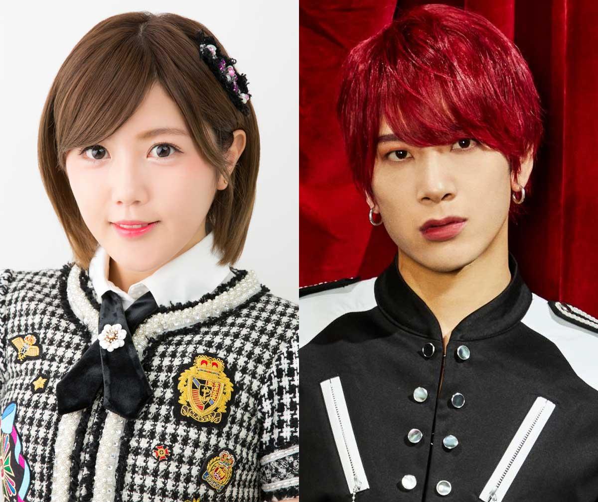 左から宮崎美穂(AKB48)、本田康祐(OWV)