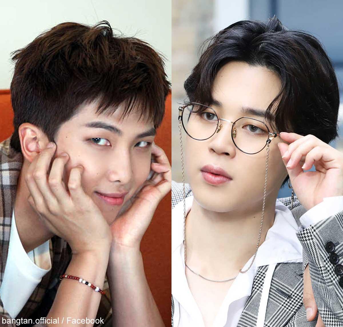 (左)BTS RM(右)ジミン