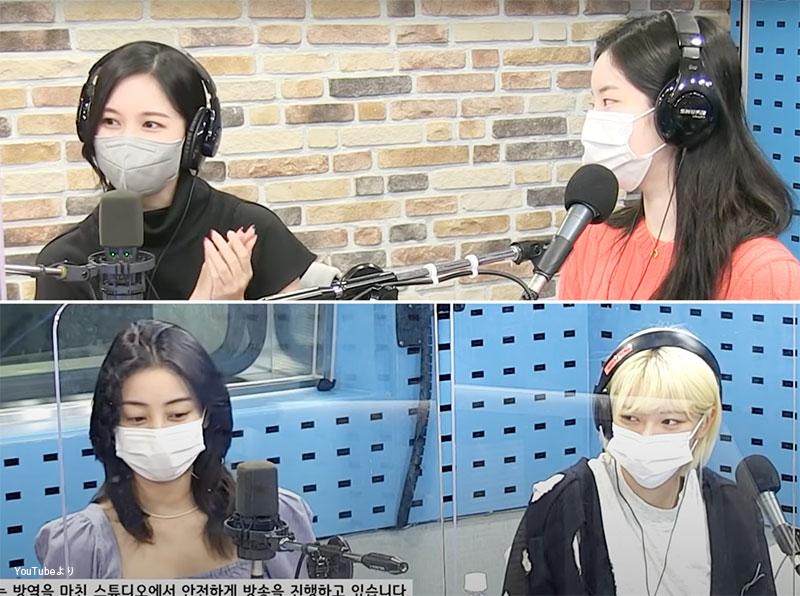 完成したものにいきなり「JYP」が入っていてびっくりしたことを明かす ミナ(左上)