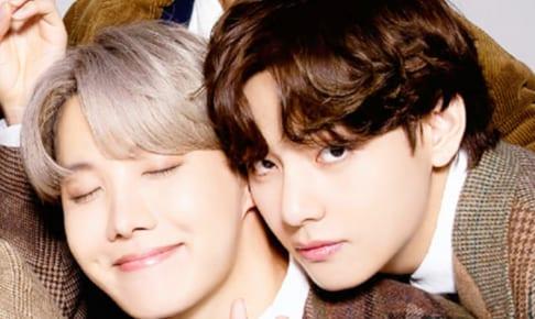 (左)BTS J-HOPE(右)V