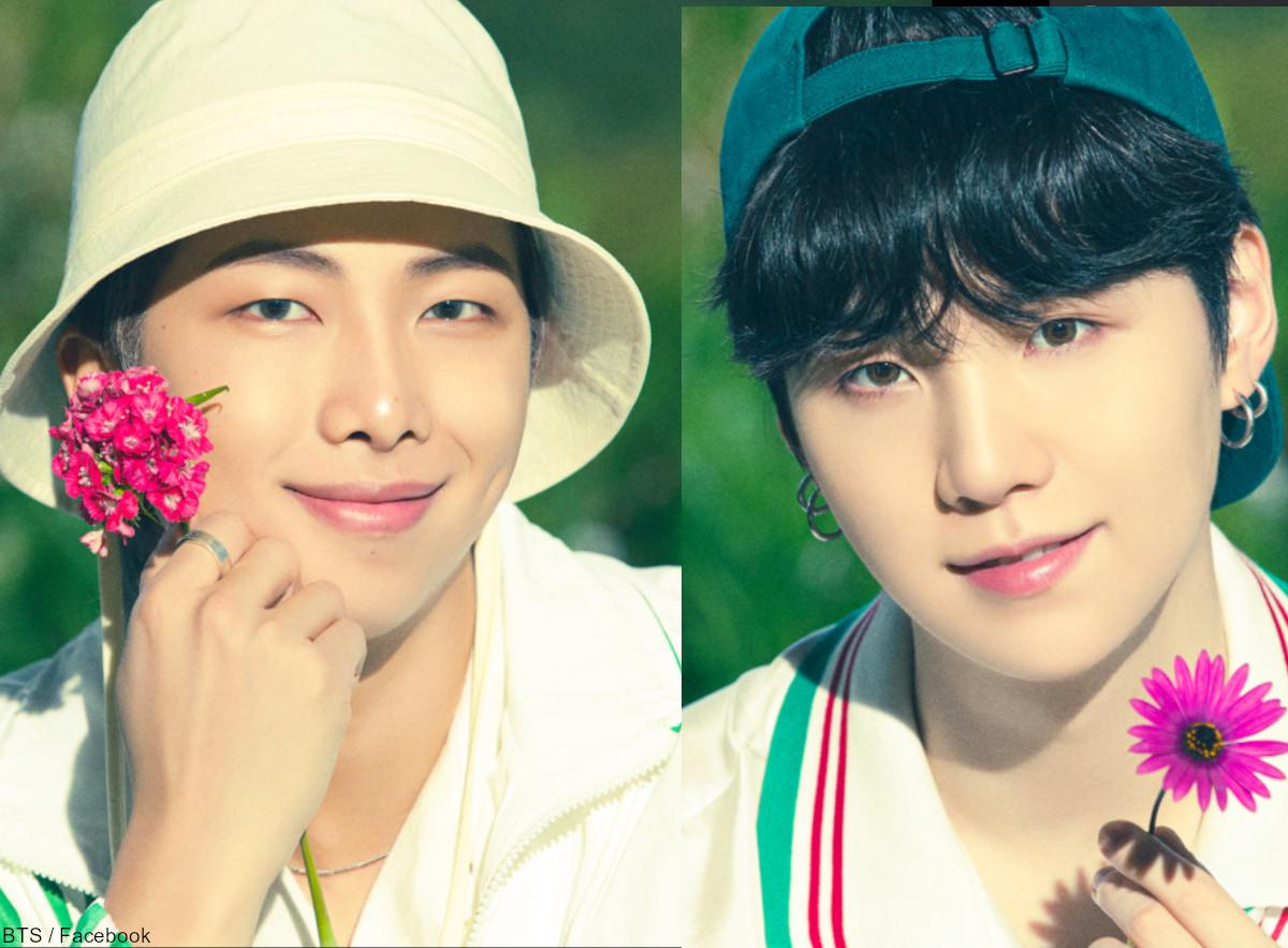 (左)BTS RM(右)シュガ