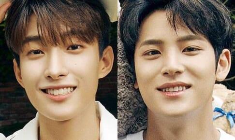 (左)SEVENTEEN ドギョム(右)ミンギュ