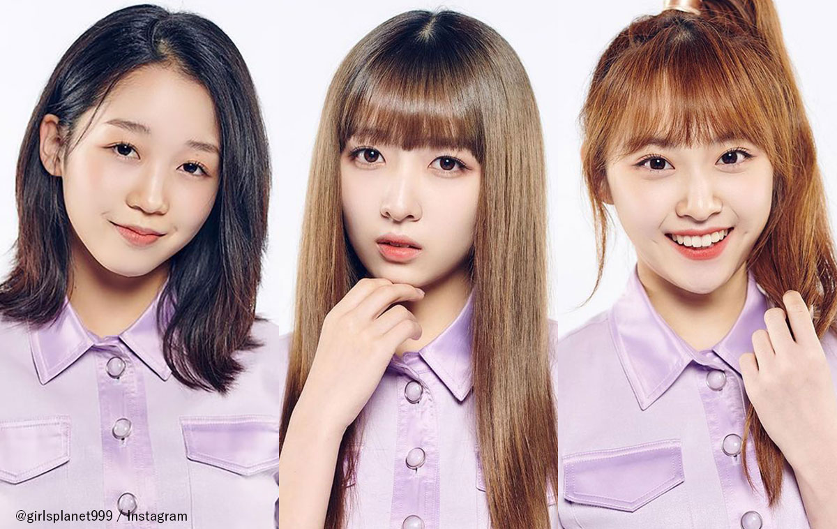 「Girls Planet 999」日本人参加者の(左から)江崎ひかる、伊藤美優、岸田莉里花