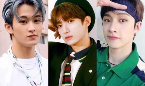 NCT マーク、SEVENTEEN ドギョム、Stray Kids バンチャン(右)