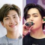 (左)BTS RM(右)V