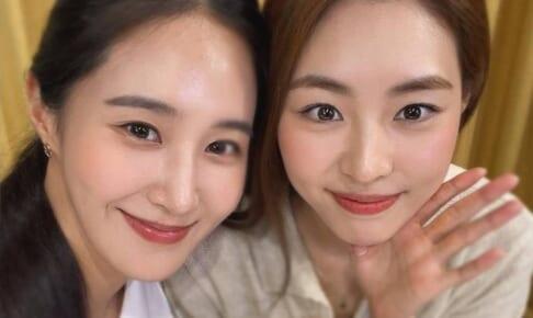 少女時代 ユリ(左)、女優 イ・ヨニ(右)