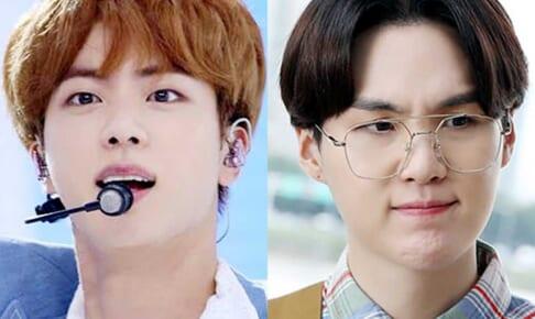 (左)BTS ジン(右)シュガ