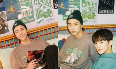 NCT 127 ジャニー、マーク( 該当のポスターが写る写真)