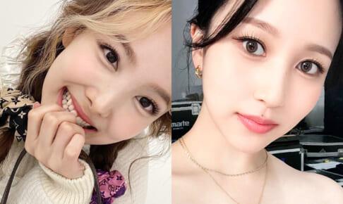 TWICE ナヨン(左)、ミナ(右)