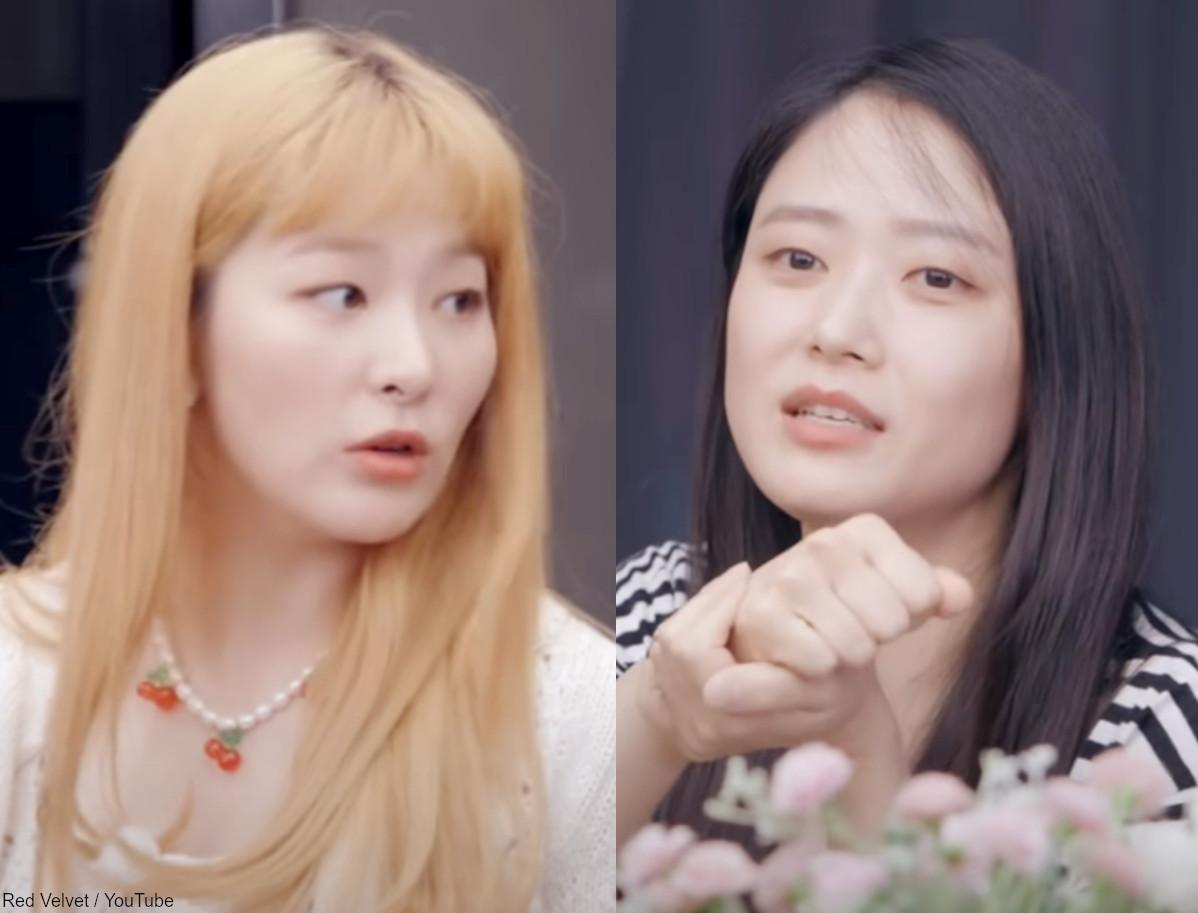 (左)Red Velvet スルギ(右)チェ・ジョンヒ氏
