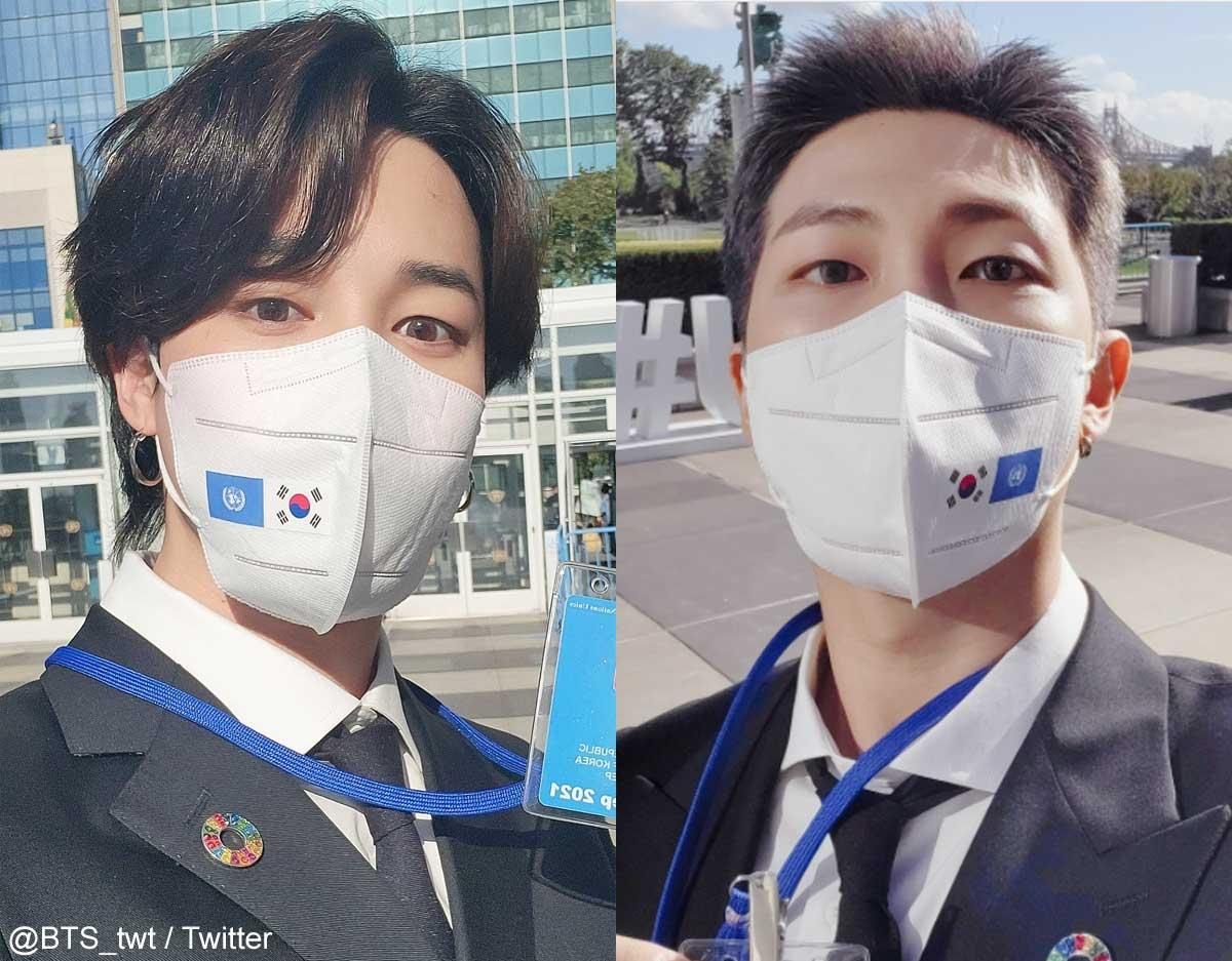 BTS ジミン、RM(右)