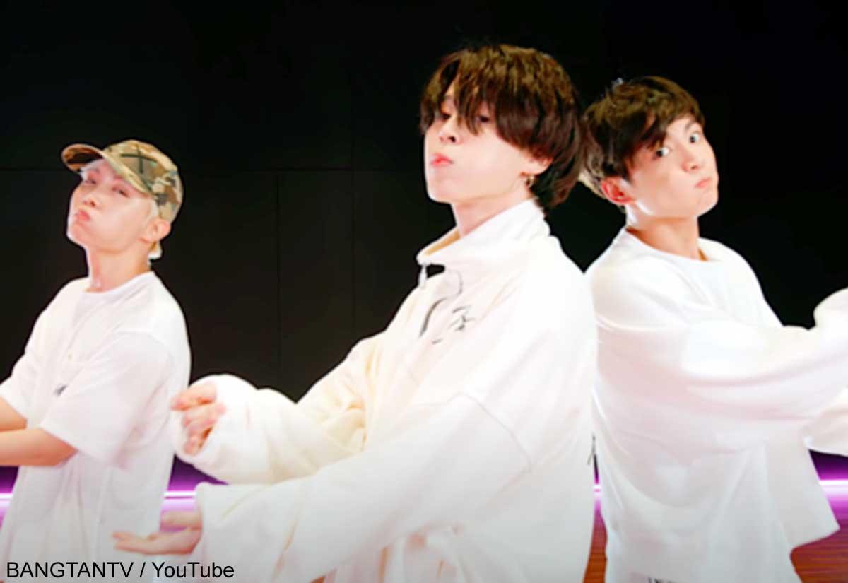 BTS J-HOPE、ジミン、ジョングク(右)