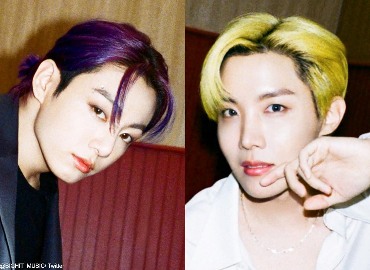 (左)BTS ジョングク(右)J-HOPE