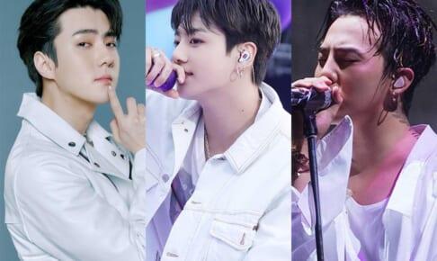 EXO セフン、BTS ジョングク、BIGBANG G-DRAGON(右)