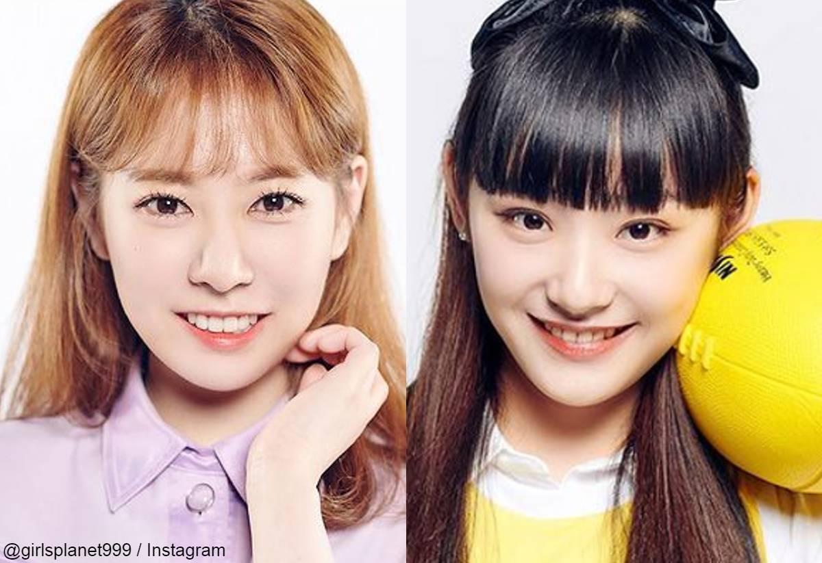 「Girls Planet 999」 キム・ボラ(左)、永井 愛美 (右)
