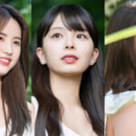 「Girls Planet 999」(左から)チョン・ジユン、川口ゆりな、ツァイ・ビーン