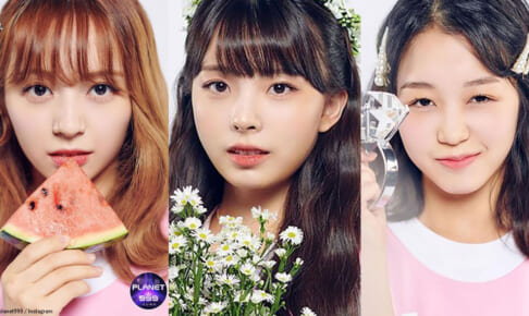 「Girls Planet 999」(左から)坂本舞白、川口ゆりな、江崎ひかる