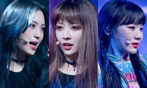 「Girls Planet 999」(左から)ユ・ダヨン、伊藤美優、シャ・イェン