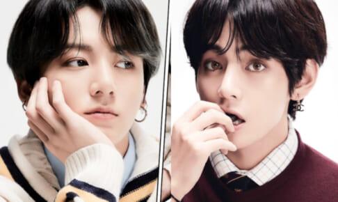 (左)BTS ジョングク(右)V