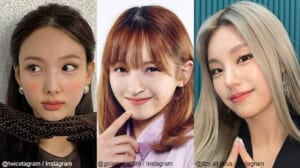 TWICE ナヨン(左)、「Girls Planet 999」 坂本舞白(中央)、ITZY イェジ(右)