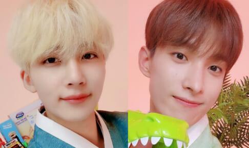 (左)SEVENTEEN ジョンハン(右)ドギョム