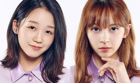 「Girls Planet 999」江崎ひかる(左)、坂本舞白(右)